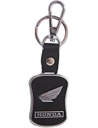 GCT Honda Logo Leather Metal Locking Keychain | Keyring | Key Chain For Car Bike Keys | For Men Women Boys Girls...