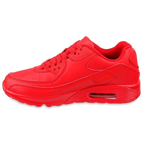 Trendige Unisex Damen Herren Kinder Laufschuhe Schnür Sneaker Sport Fitness Turnschuhe Rot 0gBSuk