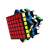 WYB Magic Cube 6X6 Puzzle Cube 65 Mm Quick Twist Racing Cube ABS Ambiental para Niños Puzzle,Black,6×6