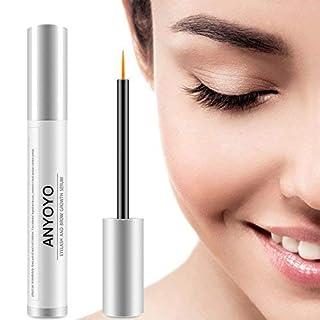 Eyelash Growth Serum, ANYOYO Natural Lash Boost Enhancer & Eyebrow Growth Serum for Longer, Thicker Lashes and Brows, FDA Approved, Irritation-Free Formula (5ML)