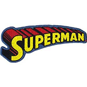 Application Superman Text Logo Patch