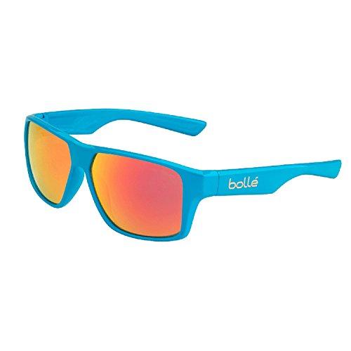 Bollé occhiali da sole brecken, uomo, brecken, shiny cyan/tns fire, l