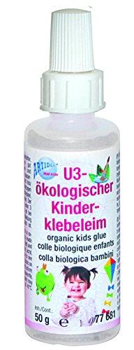 CREARTEC Ökologischer Kinderklebeleim - dickflüssiger Klebeleim - 70ml - Made in Germany