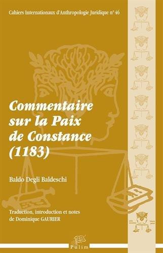 Commentaire sur la Paix de Constance (1183) (1Cédérom)