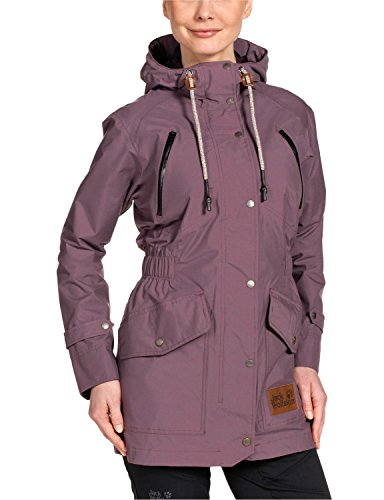 Jack Wolfskin Damen Mantel Bunda Texapore Coat W, Mulberry, M, 1106091-2130003