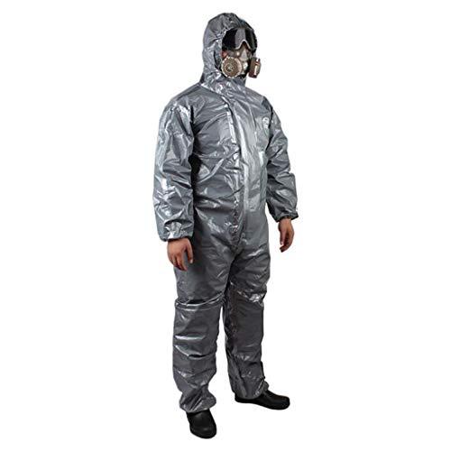 GZYF Indumenti protettivi Abbigliamento Protettivo Chimico con Cappuccio, Acido e Tuta Protettiva Chimica per Abbigliamento alcalino (Size : XXL)