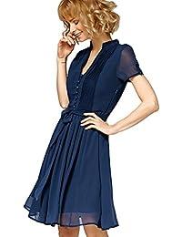 Misfit London Scarlett' Navy Flared Vintage Inspired A-Line Dress