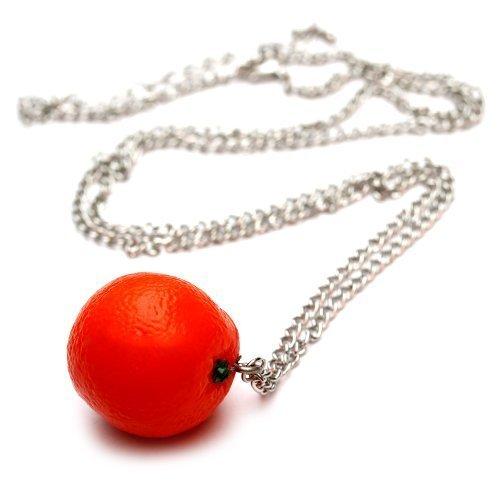 Arance collana - ca, 70 cm collana lunga - frutta ciondolo arancione party