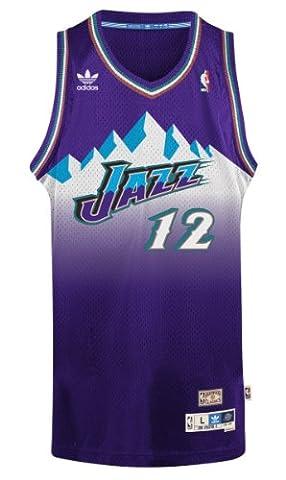 John Stockton Utah Jazz Adidas NBA Throwback Swingman Mountains Jersey