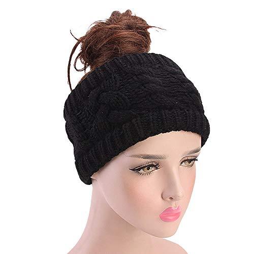 Janly Frauen Stricken Stirnband handgemacht halten warme Haarband -