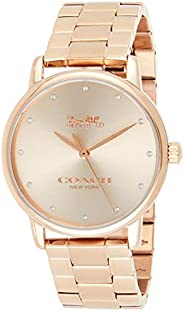 Coach Women's Rose Gold Dial Ionic Rose Gold Plated Steel Watch - 1450