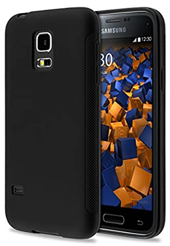 mumbi double GRIP Hülle für Samsung Galaxy S5 mini Schutzhülle schwarz