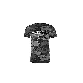 New Era Shirt - NBA Golden State Warriors grau camo - XXL