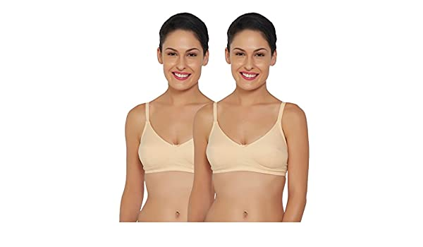 ab04b5e0f6 Libertina Freedom Non Wired T-SHIRT Bra.(Pack of 2)  Amazon.in  Clothing    Accessories
