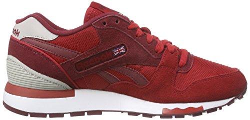 Reebok Gl 6000 Athletic, Chaussures de Course Garçon Rouge / gris / blanc (rouge puissant / rouge Bourgogne collégial / acier / blanc)