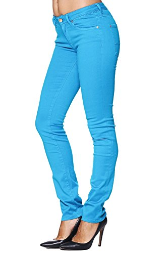 7 for all Mankind Jeans CRISTEN Gum Cap Blu – Türkis