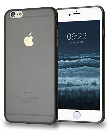 MyGadget Silikon Hülle TPU Case für Apple iPhone 6+ / 6s Plus - Schutzhülle mit Staubschutz Dünn & Flexibel - Soft Back Cover Handyhülle in Matt Grau