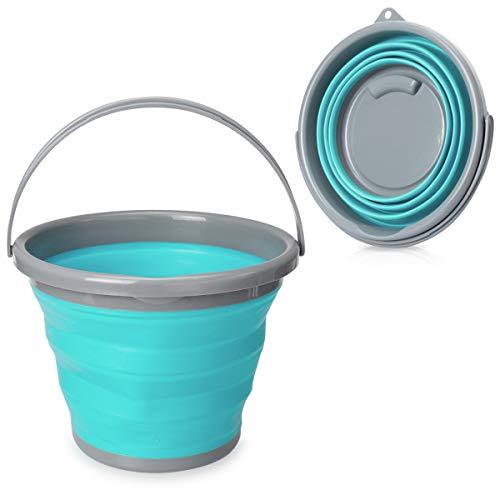 Navaris Cubo Plegable 10 litros - Balde Plegable asa