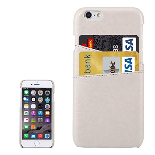 Wkae Case Cover Lambskin Texture Leder rückseitige Abdeckung mit Kartenslots für iPhone 6s ( Color : Magenta ) White