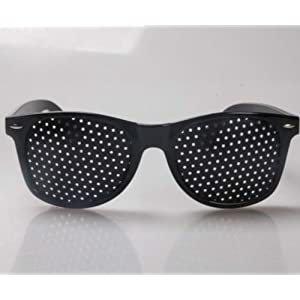 Rasterbrille Lochbrille Pinhole Glasses Nadelöhr für Augentrainer Entspannung Gitterbrille mit