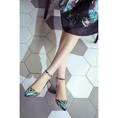LvYuan scarpe del club sandali primavera estate delle donne del partito di vacchetta&abito da sera multi-color