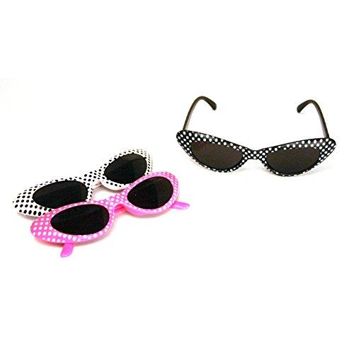 Retro Polka Dot Cat Eye Sunglasses (1 dz) - Rhode Island Costume