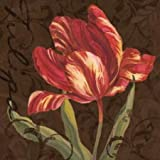 Feelingathome-STAMPA-SU-TELA-INTELAIATA-Tulipa-II-cm77x77-canvas-con-telaio-pronto-da-appendere