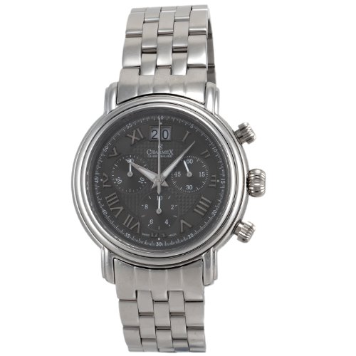 Charmex Men's 1761 Monaco Big Date Chronograph with Stainless Steel Watch