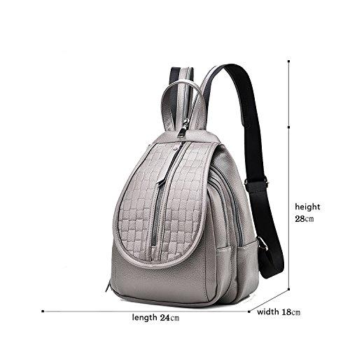 Sunas Lo zaino di corsa di tendenza dello zaino di Bessie del sacchetto di spalla dello zaino di Bessie del nuovo sacchetto di spalla delle signore di modo Grigio chiaro