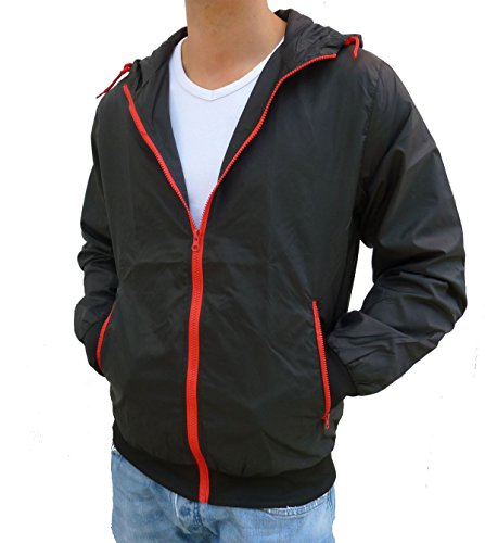 Brandit Stream Windbreaker Herren Contrast Jacke Black-Red