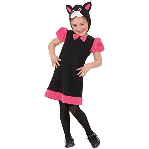 NET TOYS Kleine Katze Kostüm Kätzchen Kinderkostüm 104 cm Kinder Katzenkostüm Kitty Mädchenkostüm Miezekatze Kleid und Haube Cat Tierkostüm Mädchen (Kitty Kostüm Katze Kinder)