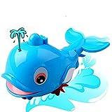 Delfin-Bade-Spielzeug für Neugeborene, für Neugeborene, Delfin, aufgewickelte Kette, für kleine Tiere, klassisches Spielzeug