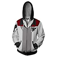 Xdai Unisex Hooded Sweatshirt Man Sweatshirt Man Long Sleeve Tops Polyester Soft Breathable 1.1lb RWBY Zipper L