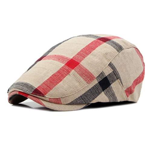 AROVON Hüte Baumwolle Baskenmützen Classic Englad Style Plaid Baskenmützen Cap für Männer Frauen Casual Unisex Sport Caps Plaid Trucker Hut