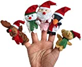 niceeshop(TM) Christmas Santa ClaUK Snowman Baby Stories Helper /Finger Puppets Toy Doll