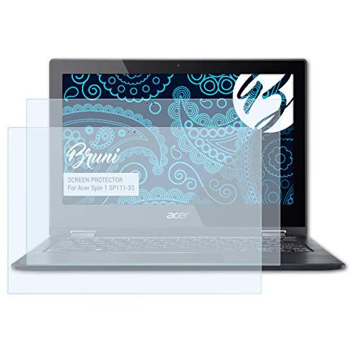 Bruni Schutzfolie für Acer Spin 1 SP111-33 Folie, glasklare Bildschirmschutzfolie (2X)