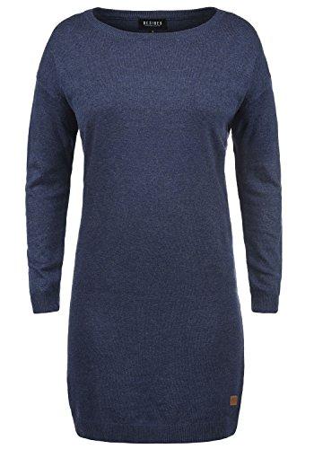DESIRES Ella Damen Strickkleid Feinstrickkleid Kleid Mit Rundhals, Größe:M, Farbe:Insignia Blue Melange (8991) (Gerippter Kleid Pullover)