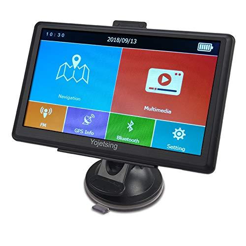 GPS Navi Bluetooth Navigation für Auto LKW PKW KFZ Navigationsgerät 7 Zoll Lebenslang Kostenloses Kartenupdate POI Blitzerwarnung Sprachführung Fahrspurassistent 2018 Europa UK Karte (Usb-speicher-karten-halter)