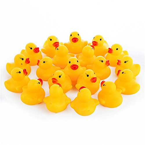 SWIDUUK 20 Pcs Cute Squeaky Ducks Baby Kids Children Water Bathing Beach Fun Toys Kids Gifts 41C2 bOzOdL