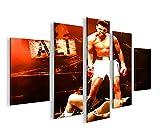 islandburner Bild Bilder auf Leinwand Muhammad Ali MF XXL Poster Leinwandbild Wandbild Dekoartikel Wohnzimmer Marke