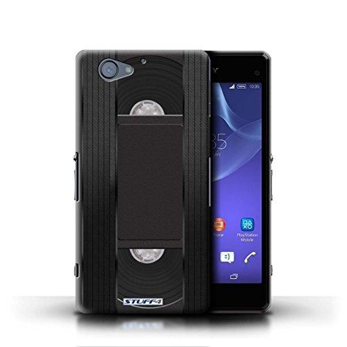Kobalt® Imprimé Etui / Coque pour Sony Xperia A2 / Compact Cassette Audio conception / Série Retro Tech Cassette Vidéo VHS