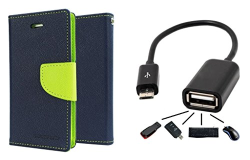 Epayista Mercury Goospery Fancy Diary Card Wallet Flip Case Back Cover for HTC Desire 820 (Blue & Green) + Premium Qualty OTG Cable  available at amazon for Rs.249