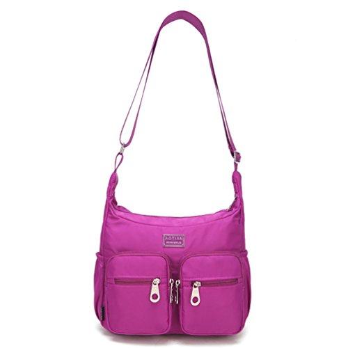 AOTIAN 6671#, Borsa a secchiello donna rosa C-ROSE small B-XPPURPLE