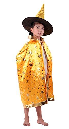 MEYKISS Kinder Cape Halloween Umhang mit Hexe Hat Gr. Einheitsgröße, ()