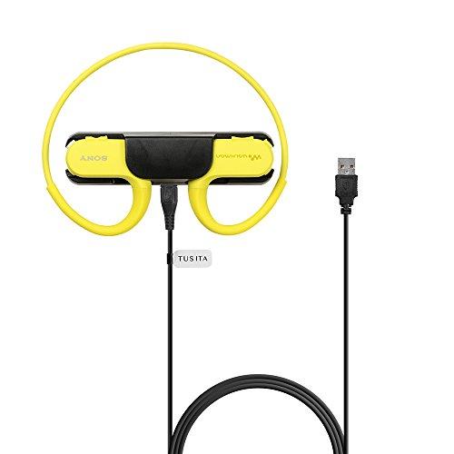 TUSITA® Ersatz USB Ladegerät Daten Sync Ladung Clip Dock Kabel Drahtkabel Zubehör Adapter für SONY NW-WS413 NW-WS414 Walkman Kopfhörer