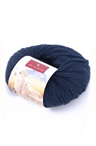 Baby-Alpaka Wolle 5er-Pack REGULAR 5x50g 100m Nadel 4 Strick-Häkel-Garn APU KUNTUR dunkel-blau