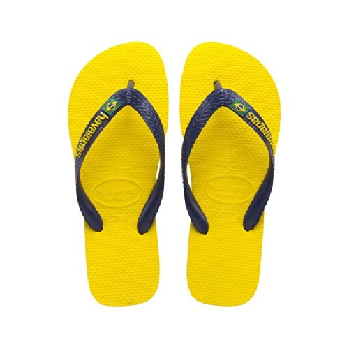 Havaianas, sandales pour fille bleu foncé Jaune - Citrus Yellow