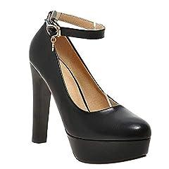 Idea Regalo - MissSaSa Scarpe col Tacco Alto Donna Elegante (41, Nero)