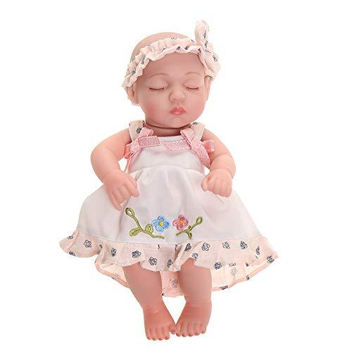 MYYXGS Reborn Babypuppe Real Aussehen Realistischen KöRper Baby MäDchen Jungen Silikon Baby Weiche Puppe, Um Kinder Geschenke 15 30Cm Zu Senden