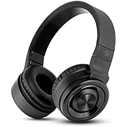 AT&T PBH20 Over-Ear Stereo Noise Cancelling Bluetooth Headphones with Built in Mic - Black
